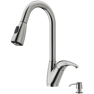 Vigo Stainless Steel Pull Down Spray Kitchen Faucet With
