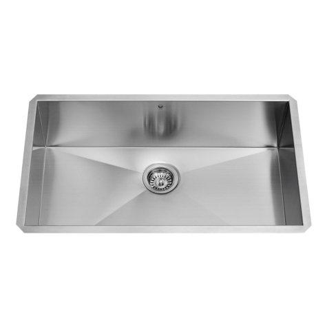 """VIGO 30"""" Undermount Stainless Steel 16-Gauge Single Bowl Kitchen Sink"""