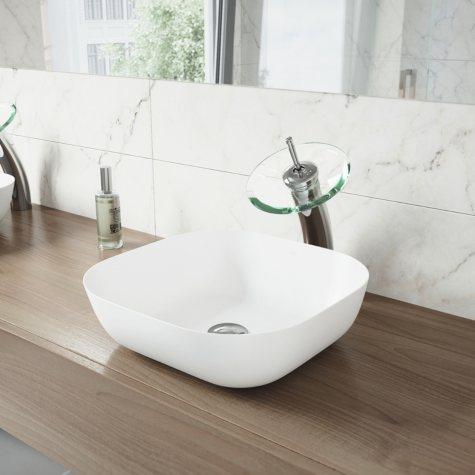VIGO Waterfall Bathroom Vessel Faucet (Chrome)
