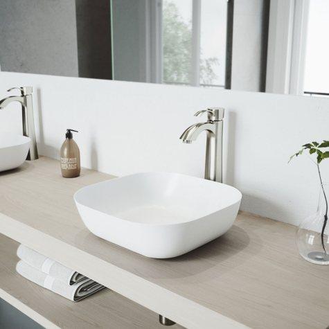 VIGO Otis Bathroom Vessel Faucet - Brushed Nickel