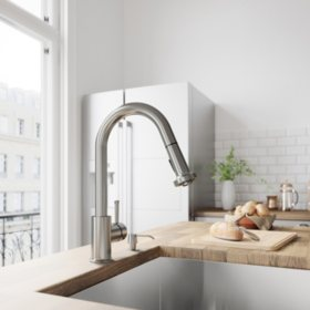 VIGO Harrison Stainless Steel Pull-Down Spray Kitchen Faucet