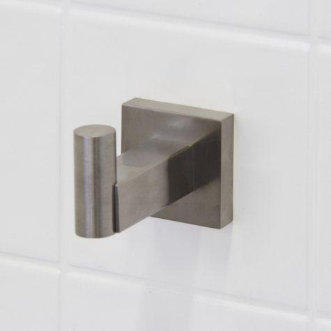 VIGO Allure Square Design Single Hook - Brushed Nickel