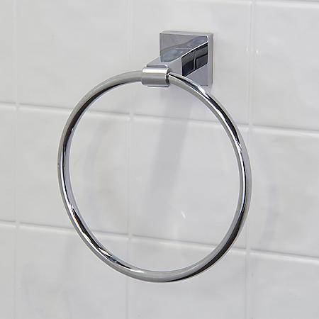 VIGO Allure Square Design Hand Towel Ring in Chrome