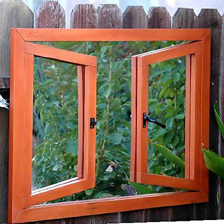 Portchester Double Open Window Illusion Garden Mirror