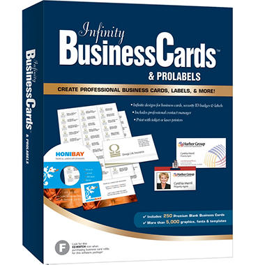 Infinity Business Cards & ProLabels 8.5
