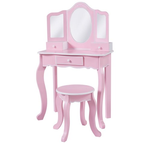 Vanity Table with Stool Set