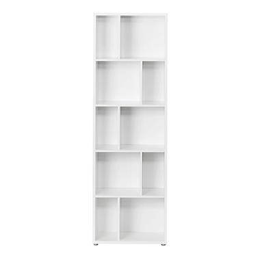 Tvilum Maze Large Decorative Bookcase With Divders White