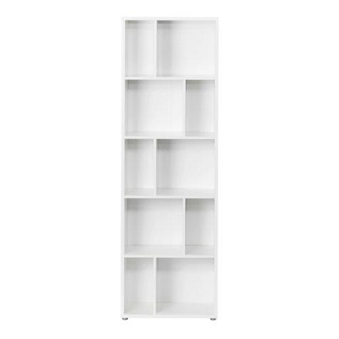 Tvilum Maze Large Decorative Bookcase with Divders, White Laminate