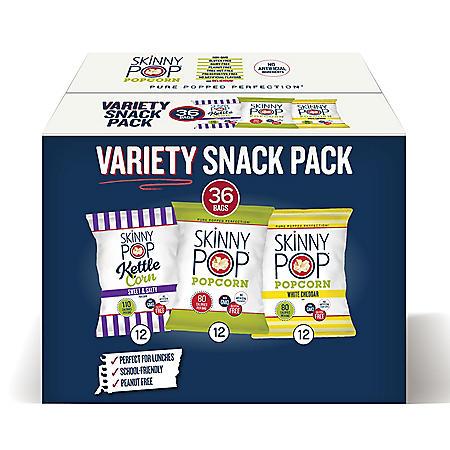 SkinnyPop Popcorn Variety Snack Pack (36 pk.)