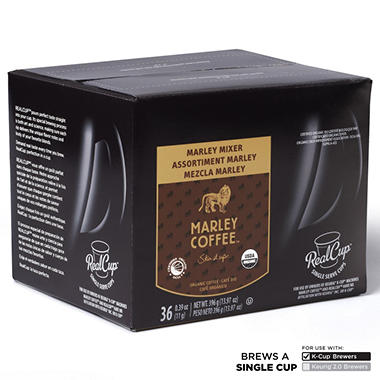 Marley Mixer Organic Coffee Variety Pack (36 K-Cups)