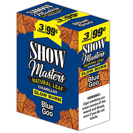 Show Masters Blue Goo Cigarillos Pre-Priced 3 for $$0.99 (3 ct., 15 pk.)