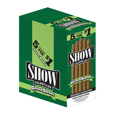 Show Green Sweet Cigars 5 for $1 (15/5pk.)