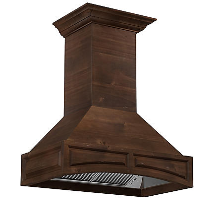 ZLINE 48 in. 1200 CFM Designer Series Wooden Wall-Mount Range Hood
