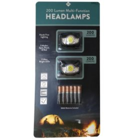 Member's Mark 200 Lumen Multi-Function Headlamp (2 pk.)
