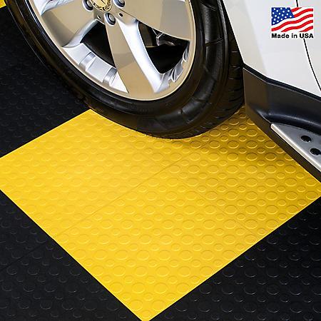 "BlockTile - Modular Interlocking Garage Floor Tiles - 12"" x 12"" x 1/2"" - 30 pk."