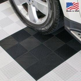 """BlockTile Perforated Interlocking Garage Flooring Tiles - 12"""" x 12"""" x 1/2"""" - 30 pk."""