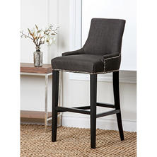 Logan Fabric Nailhead Trim Bar Stool (Assorted Colors)