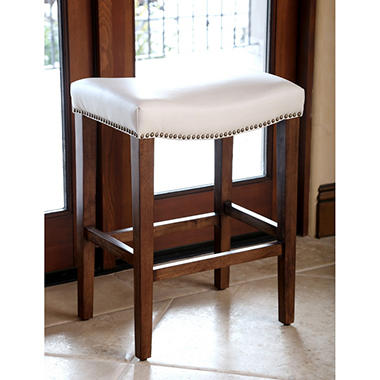 Cedric Leather Counter Stool Ivory Sam S Club