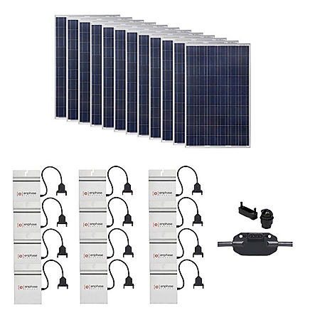 Grape Solar 3,180-Watt Expandable Poly-Crystalline PV Grid-Tied Solar Power Kit