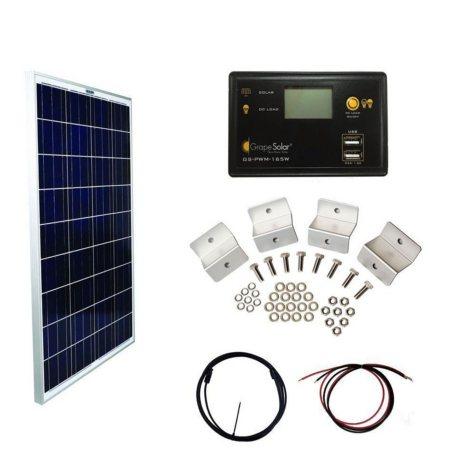 Grape Solar 100-Watt Basic Off-Grid Polycrystalline Silicon Panel Kit