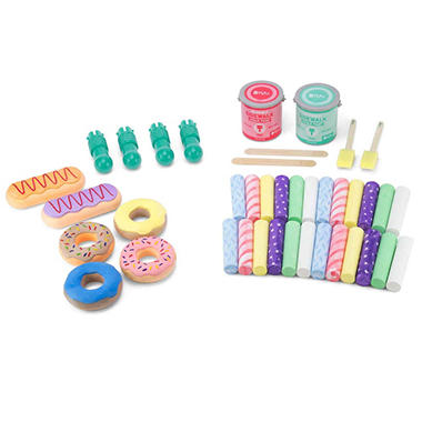 40-Piece Donut Chalk Set Sidewalk Chalk Paint