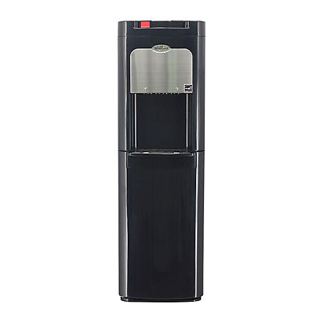 Whirlpool Black and Stainless Bottom Load Water Dispenser Water Cooler with Cold and Hot Water