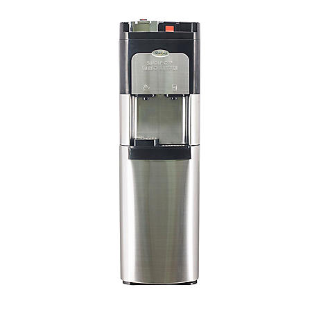 Whirlpool Single Cup Coffee maker and Water Cooler Dispenser in Stainless Steel with Steaming Hot and Ice Cold Water