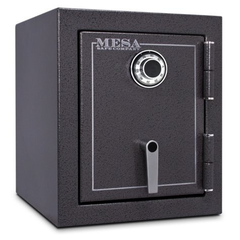 BF1512C 1.7 cu ft Burglary & Fire Safe, All Steel Safe with Combination Lock, Hammered Grey