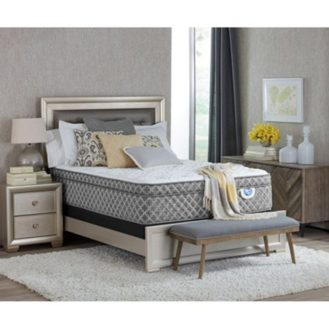 "Spring Air Cassie Eurotop 16"" California King Mattress Set"