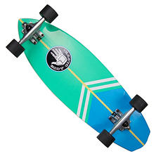 "Body Glove Surfslide 28"" High Performance Longboard Cruiser Skateboard, Aqua Green"