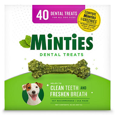 Minties Dental Dog Treats (40 ct.)