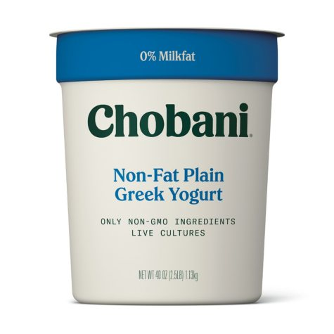 Chobani Plain Non-Fat Greek Yogurt (40 oz.)