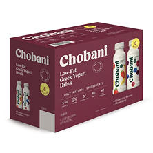 Chobani Low-Fat Greek Yogurt Drink (10 fl. oz. bottle, 8 pk.)