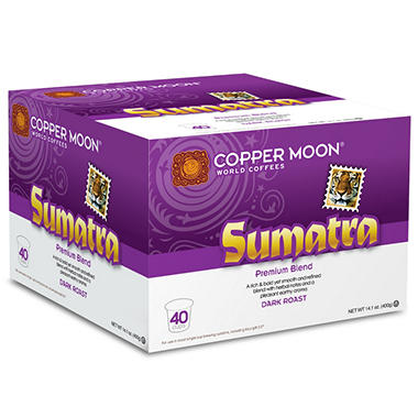 Copper Moon Sumatra 100% Arabica Premium Blend, Single Cup Coffee (80 ct.)