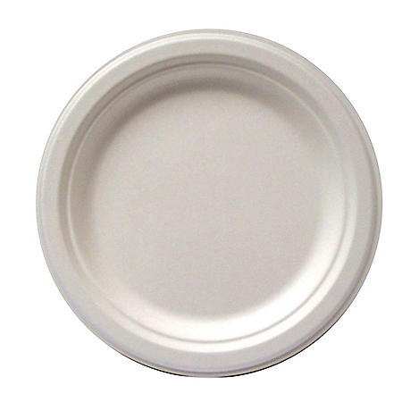 Earth-To-Go Pulp Compostable Bagasse Plate (500 ct.)- Choose Your Size