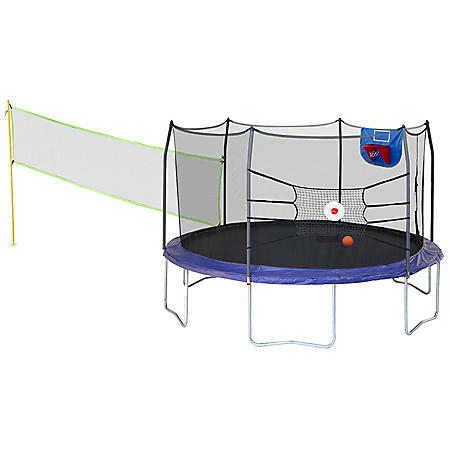 Skywalker 15' Round Sports Arena Trampoline and Enclosure