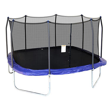 Skywalker Tr&olines 15u0027 Square Tr&oline with Enclosure Blue  sc 1 st  Samu0027s Club & Skywalker Trampolines 15u0027 Square Trampoline with Enclosure Blue ...
