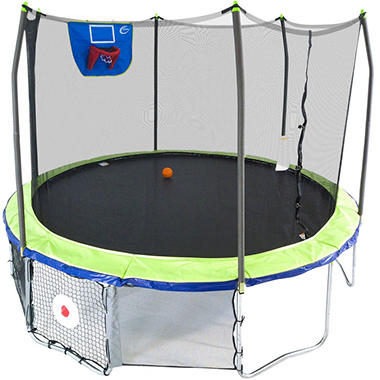 Skywalker Trampolines 12' Round Sports Arena Trampoline with Enclosure