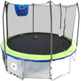 Skywalker Trampolines 12' Round Sports Arena Trampoline with Enclosure – Dual Color