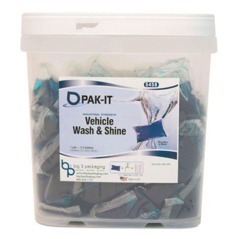 PAK-IT - Vehicle Wash & Sheet, Pink -  50/Tub