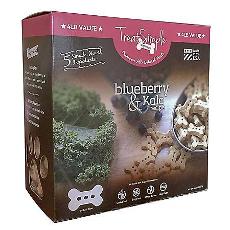 TreatSimple Blueberry Kale Dog Treats (4 lbs.)