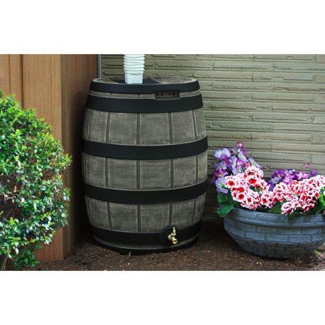 50-Gallon Darkened Ribs Rain Vault Barrel, Assorted Colors