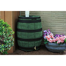 50-Gallon Darkened Ribs Rain Vault Barrel, Assorted Colors