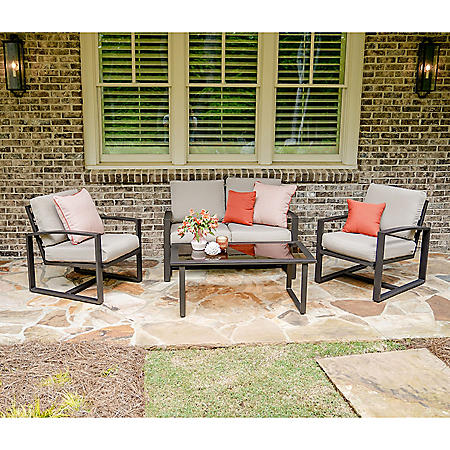 Jackson 4-Piece Outdoor Seating With Sunbrella Fabric