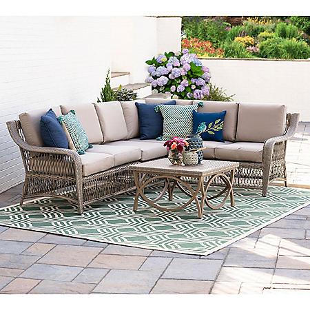 Juliet 5-Piece Outdoor Sectional With Sunbrella Fabric