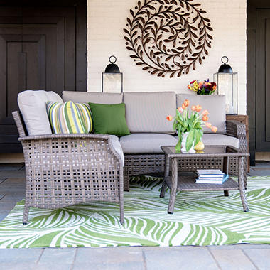 Kent 4 Piece Outdoor Sectional With Sunbrella Fabric Sam S Club