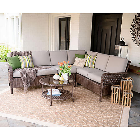 Jones 5-Piece Outdoor Sectional With Sunbrella Fabric