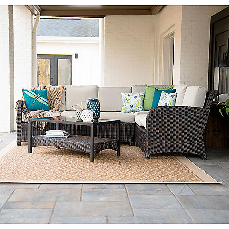 Perry 5-Piece Outdoor Sectional With Sunbrella Fabric