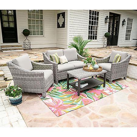 Reynold 4-Piece Outdoor Seating With Sunbrella Fabric