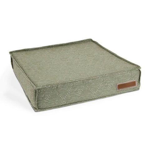 The Houndry Lounger Pet Bed, Sunbrella Mossy Mutt (Choose Your Size)